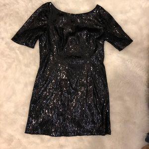 Black sequin tunic